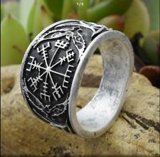 Norse Viking Nordic Vegvizir Compass Ring Size T