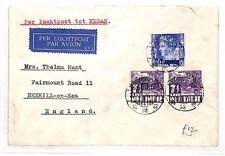 BF192 1936 DUTCH EAST INDIES Bondowoso GB Bexhill-on-Sea Airmail Cover via Meden