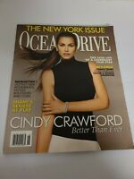 Ocean Drive June 2007 CINDY CRAWFORD Cover Vintage Fashion Magazine EUC