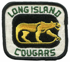 "1973-75 LONG ISLAND COUGARS NAHL HOCKEY MINORS VINTAGE 3.25"" TEAM PATCH"