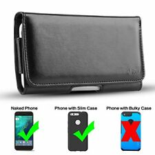 J&D Google Pixel PU Leather Holster Pouch Case with Belt Clip, Leather ID Wallet