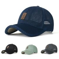 Men's Fashion Solid Breathable Outdoor Sun Protection Mesh Hat Wild Baseball Cap