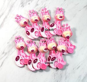 Cute 3D Pink Giraffe Baby Shower Safari Jungle Animal Theme Party Decor Boy Girl