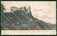 Cuneo città Castello di Montemale postcard cartolina KF3419