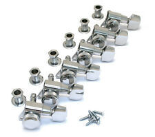 Schaller Chrome LOCKING 6 Inline Tuners for Strat/Tele® Guitar TK-0974-010