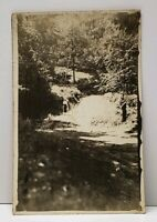 RPPC Victorian Woman Taking the Path Real Photo Postcard G6