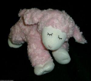"""9"""" GUND BABY WINKY PINK LAMB SHEEP SOFT RATTLE STUFFED ANIMAL PLUSH TOY 58131"""