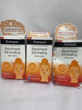 (3) Neutrogena Blackhead Pore Strip to Facial Scrub 24 Dissolving Strips