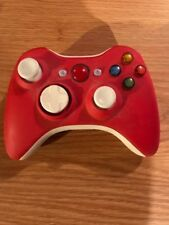 CUSTOM UN-MODDED MATT RED AND WHITE LED XBOX 360 WIRELESS CONTROLLER LIGHT UP