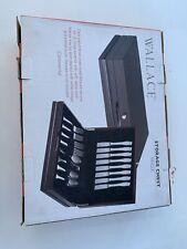 Wallace Continental Flatware Silverware Storage Chest Dark Walnut New Open Box