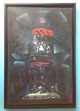 Ervin NEUHAUS (1928-2012) Tableau 1960 HST Huile Abstrait 88x60cm Art Brut