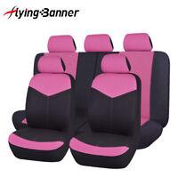 Universal car Seat Covers set washable Pink rear seat split 40/60 50/50 60/40