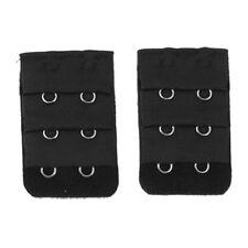 Pair Black 3x2 Hooks Bra Extender Hook and Eye Tape U4V9