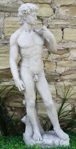 David Male Statue Man Figure Stone Effect Garden Lawn Sculpture Ornament Large