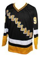Custom Name # Cleveland Retro Hockey Jersey New Black Quinn Any Size