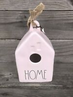 NEW! Rae Dunn Pastel Pink  LL Home Birdhouse Bird House BEAUTIFUL By Magenta