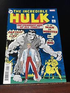 2019 THE INCREDIBLE HULK #1 Facsimile NM- Near Mint- Marvel Jack Kirby Stan Lee