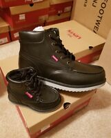 Levi's Boy Size 1.5 Boots Style Dean Ultra Color Black Texas New 556731- 01A