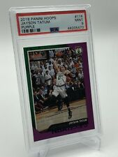 2018-19 Panini NBA Hoops Jayson Tatum PURPLE 2nd Year Card PSA 9 - Celtics