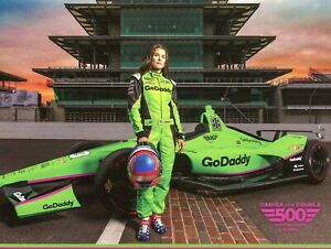"2018 INDY 500 DANICA PATRICK ED CARPENTER RACING INDYCAR 81/2"" X 11"" HERO CARD !"