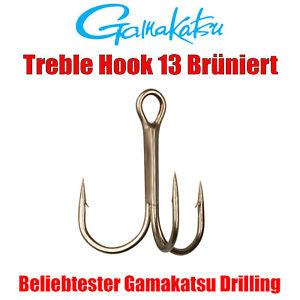 Rot Größe   1# treble hook red 50 Drillingshaken,Drillinge