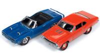 A.S.S NEU Johnny Lightning 1/64 Dodge Coronet Chevy Nova 396 Set Class of 1969