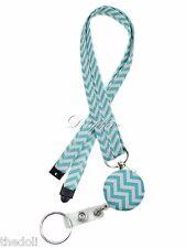 Breakaway Lanyard and Retractable Badge Reel with Key ring