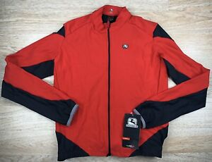 Giordana Long Sleeve Cycling Jersey Mens Size XXL Black/Red
