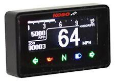 KOSO D1 OLED schwarz Tachometer Drehzahlmesser digital ABE Tankanzeige Tacho, BA
