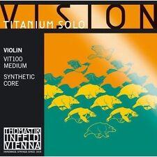 New Thomastik Vision Titanium Solo Violin String Set