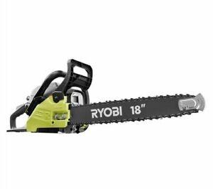 "Ryobi RY3818 2 Cycle 18"" Chainsaw with Heavy Duty Case 38cc 2-Cycle Gas"