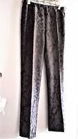 Reduced! MAXMARA Elegant Black Pants, Silk-Wool, Botanical,12, NWOT