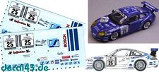 "1/43 Decal Porsche 911 GT3 Cup ""G.M. Sports"" 2nd Place 24h Nürburgring 2001"