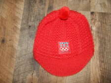 Official 2010 Team USA Vancouver Olympics NIKE Red Brimmed Knit Cap Hat RARE!