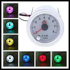 2'' 52mm RPM 7 Color Tachometer Car Auto Gauge Meter Shift Light Tach 12V DC