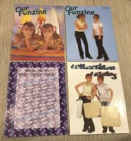 Mary-Kate & Ashley Lot Inc: 2 Funzine Magazine's, Folder & Collectibles Catalog
