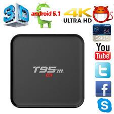 Mini T95m 1G+8G 4K S905X Android 6.0 4K Quad Core Wifi Smart TV Box Media Player