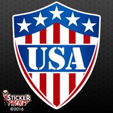 USA SHIELD Sticker - Car Truck Bumper Vinyl Decal Patriotic US Badge #FS234