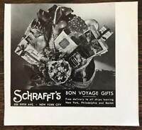 1936 Schraffts Fifth Ave NYC Print Ad Bon Voyage Gifts