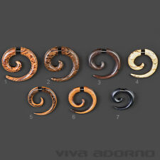 Fake Spirale Ohr Piercing Holz  Fake Piercing Ohrring Cheater Z436