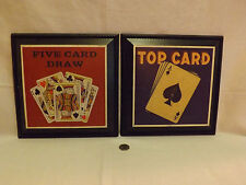 Two vintage style Poker themed wall plaques. LOOK!