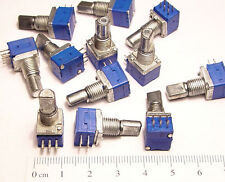 10 x Mini Stereo 10K Ohm Audio Taper Potentiometer POT 20% TOL + Mounting Nuts