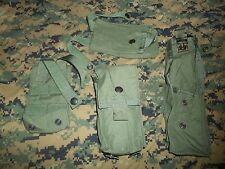 set of 4 pouches for the MOLLE survival vest UNISSUED OD green CWU-33 mag