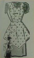 SALE Vintage Bib Apron Full Size Pattern Bust 38 Sweet 1940s WWII Era  APR 8023