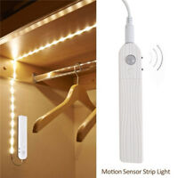 1M Battery Operated LED Strip Light PIR Motion Sensor Under Bed Wardrobe Cabinet