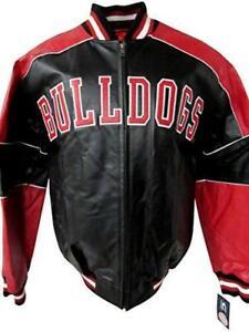 Georgia Bulldogs Mens Medium 2 Time National Champions Leather Jacket A1 1380