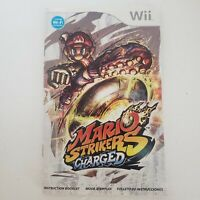 MANUAL ONLY Super Mario Strikers: Charged Nintendo Wii NO GAME replacement book