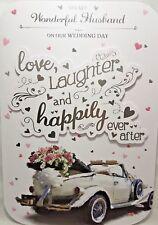 Marito sul Nostro Matrimonio Giorno CARD ~ Matrimonio Car Design Qualità Carta di bello Verse