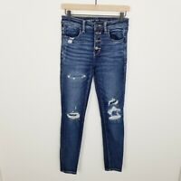 AEO American Eagle Next Level Stretch Button Up High Rise Jegging Jeans 6