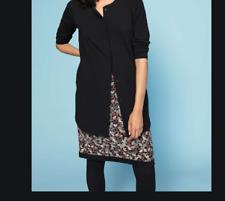 Gudrun Sjoden Minerva Reversible sz XL skirt stretch/organic cotton pencil black